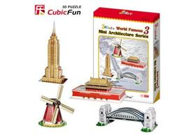 3D puzzle - Mini architecture series 3. 100 db-os