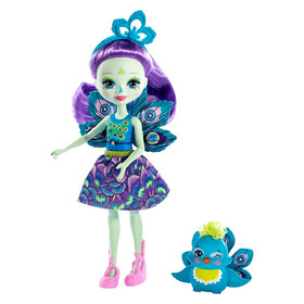 Enchantimals: szárnyas Patter Peacock figura