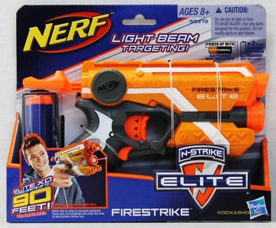 NERF N-Strike Elite: Firestrike szivacslövő pisztoly - narancssárga (88378)