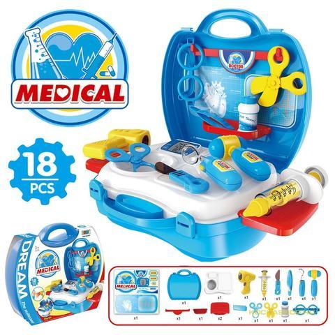 Orvosi táska eszközökkel - 18 darabos  a73b53ca0a