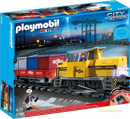 Playmobil 5258 - Konténerszállító tehervonat (5258)